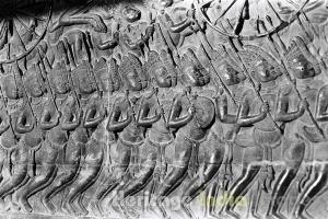 King Suryavarman II's Procession on Bas-Relief
