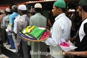 Devottee at the Dargah of Hazrat Nizamuddin Auliya