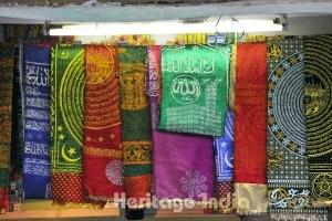Chadars at a shop in Dargah